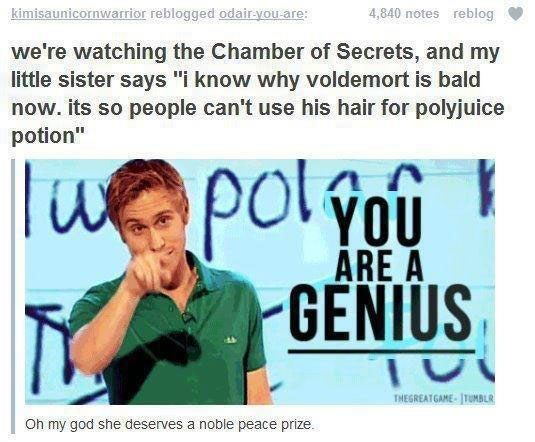 i know why voldemort is bald