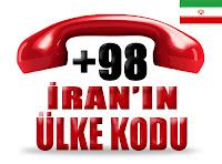 +98 İran ülke telefon kodu