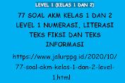 77 Soal AKM Kelas 1 dan 2 Level 1 Numerasi, Literasi Teks Fiksi dan Teks Informasi