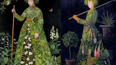 Jardineros y jardineras protagonistas en la pintura