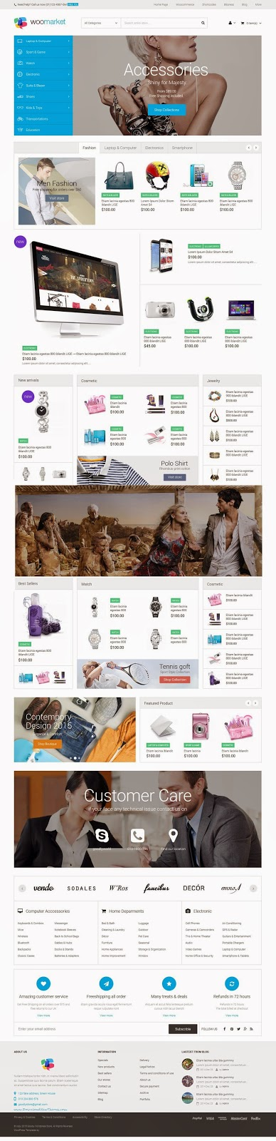 Free WordPress WooCommerce Theme 2015