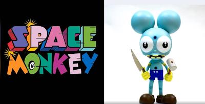 Space Monkey Blue Edition Vinyl Figure by Dalek x UVD Toys