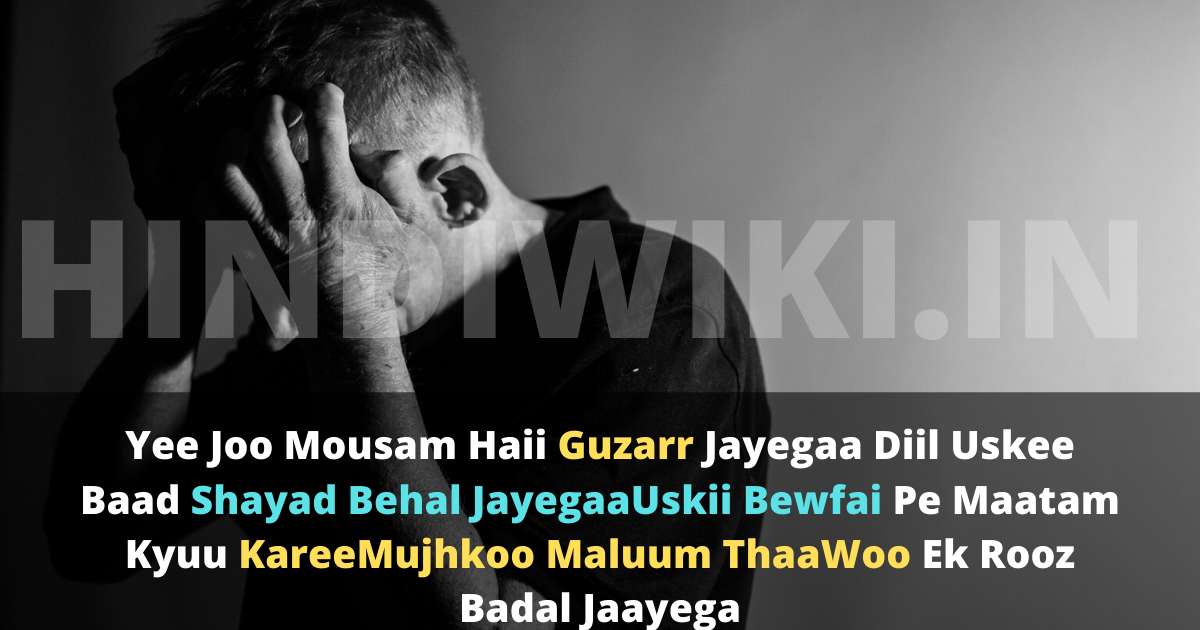 Best Bewafa Shayari In Hindi