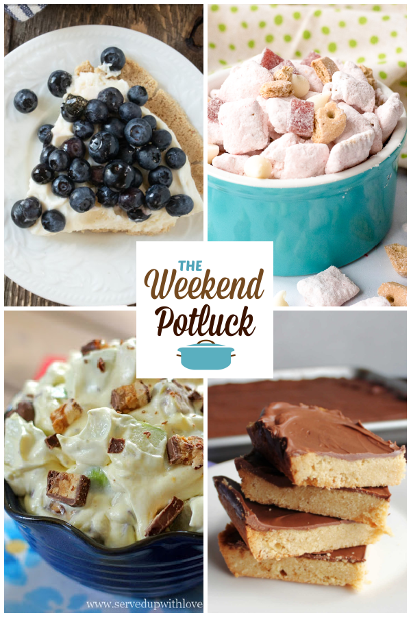 A virtual recipe swap with Blueberry Cream Pie, Strawberry Cheesecake Puppy Chow, Snickers Apple Salad, Maw-Maw's Toffee Cookie Bars and dozens more!