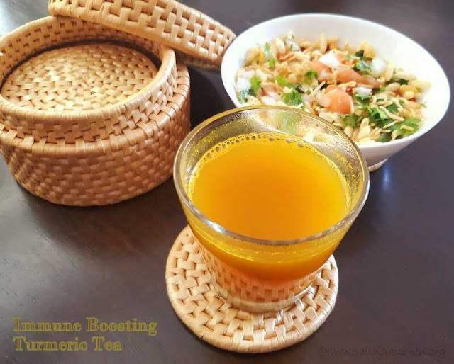 images of How to make Turmeric, Cinnamon , Ginger Tea / Immune Boosting Turmeric Tea / Turmeric Ginger Tea Recipe / Immunity Booster Drink / Immune Boosting Turmeric Tea