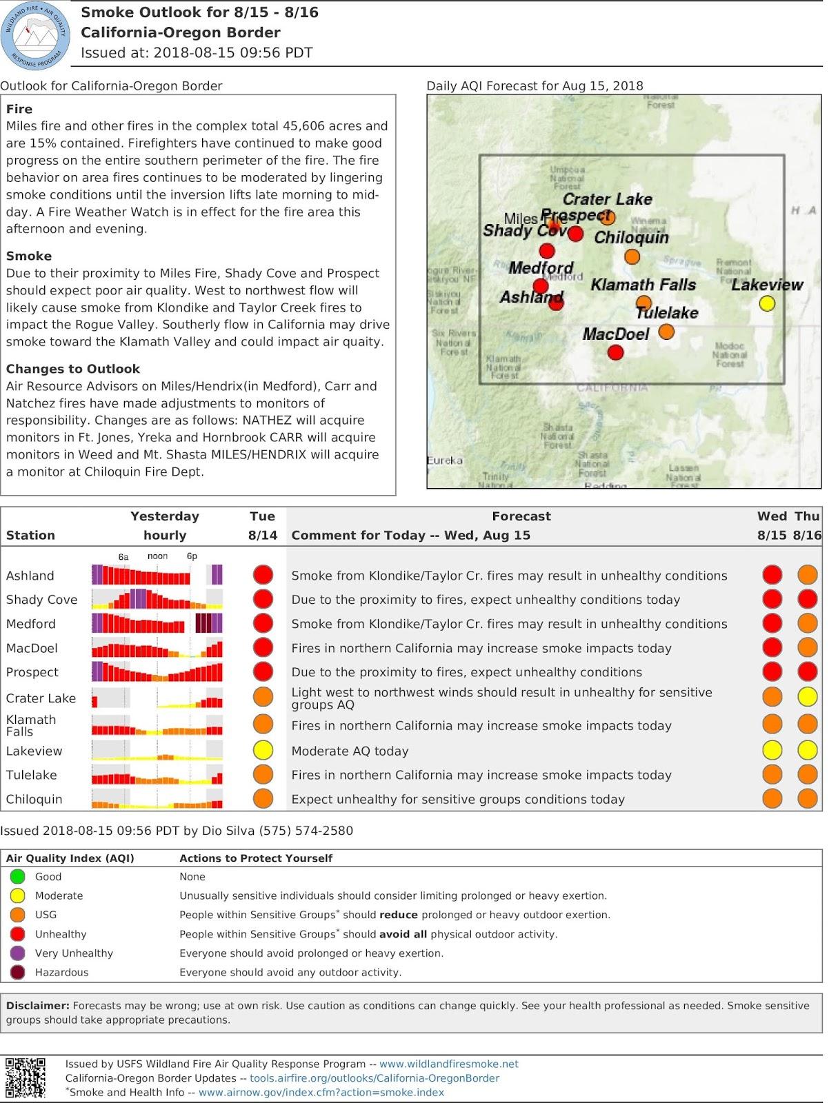 wed aug 15 california oregon border smoke outlook