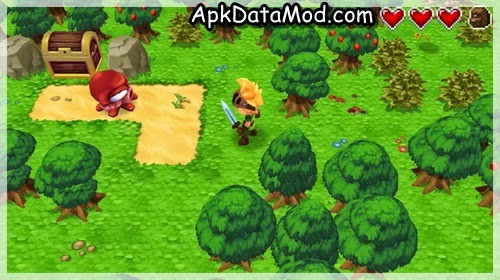 Evoland fighting forest