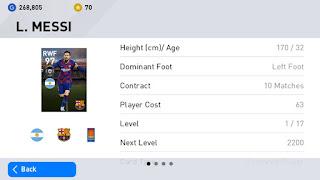 tutorial cara mendapatkan lionell messi di pes mobile 2020