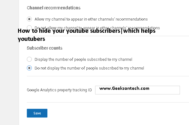 How to hide your youtube subscriberswhich helps youtubers