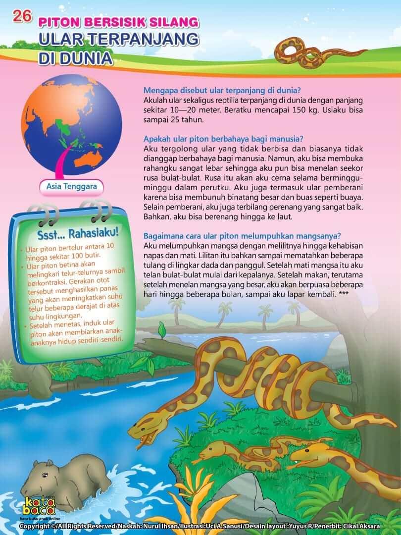 Ular Piton Bersisik Silang adalah Ular Terpanjang di Dunia