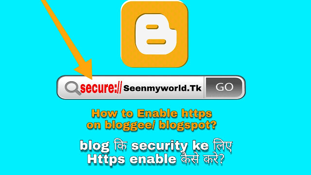 How to enable https on blogger/blogspot