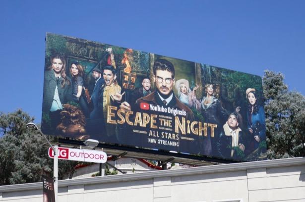 Escape The Night All Stars YouTube billboard