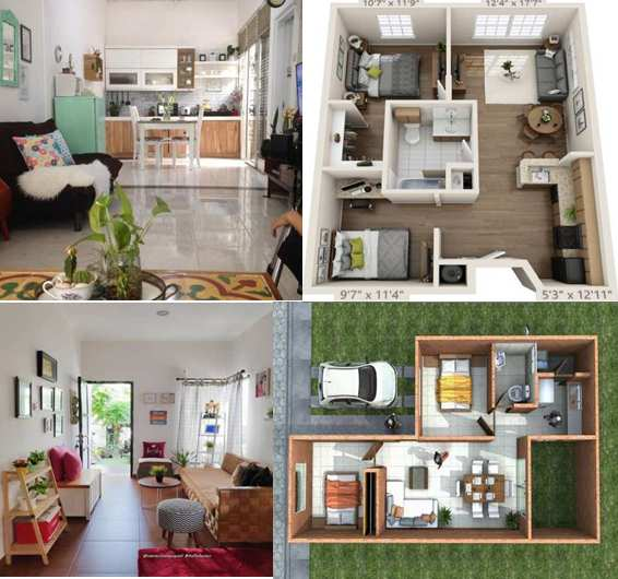 Rumah minimalis 1 lantai 2 kamar tidur
