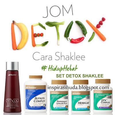 set, detox, shaklee, vivix, alfalfa, peppermint, herblax, dtx, detoks, usus, inspirasihuda