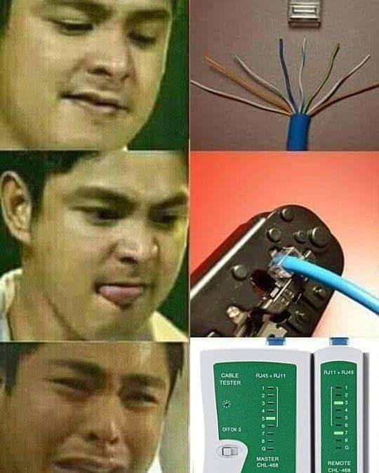 crimpando um cabo de rede