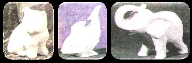 Karya kerajinan binatang dari gips