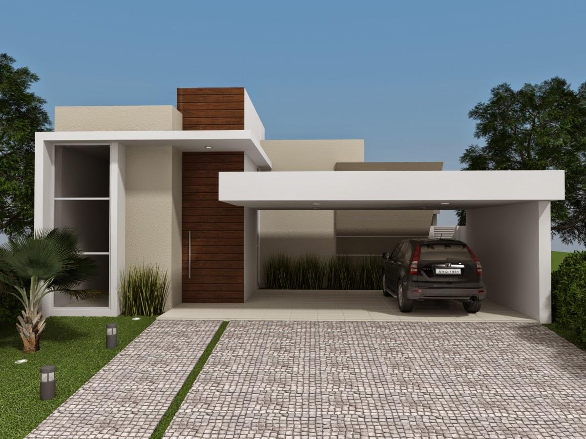 Casa terrea com telhado casas modernas por usa shingles for Casa moderna 8