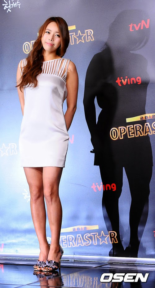 Park Ji Yoon (박지윤, 樸志胤 pǔ zhì yìn) - 'Opera Star 2012' production conference held at Seoul Mapo CJ E & M Center in Sangam-dong on 01 February 2012