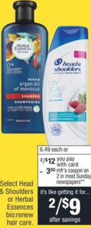 Herbal Essences or Head & Shoulders CVS Deal