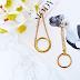 DIY: Náušnice so zlatými krúžkami