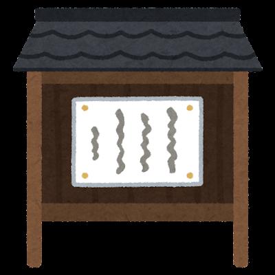 お寺の掲示板のイラスト