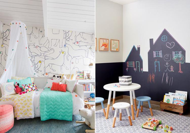 Decora le pareti della cameretta arredamento facile - Pittura per cameretta ...
