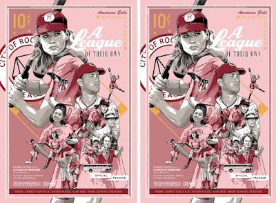 A League of Their Own Movie Poster Screen Print by Joshua Budich