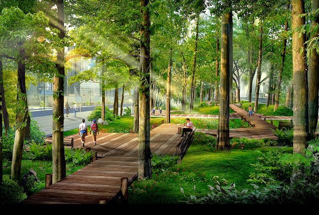 Cây xanh tại Goldmark City