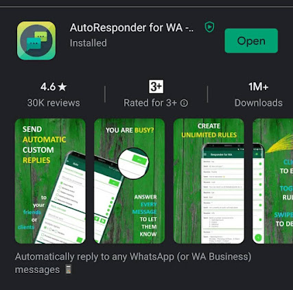 cara nak buat auto respon whatsapp