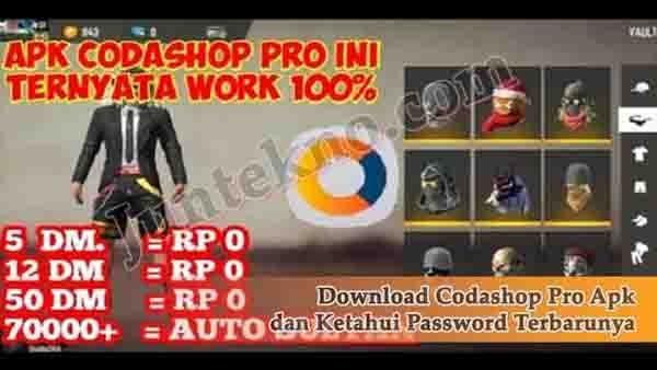 Download Codashop Pro Apk Dan Ketahui Password Terbarunya Juntekno