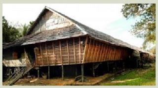 Desain Bentuk Rumah Adat Dayak dan Penjelasannya, Rumah Bentang, Kalimantan