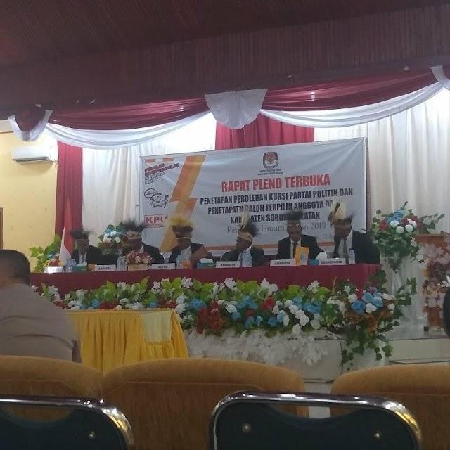 KPU Kabupaten Sorong Selatan secara Resmi mengumumkan dan menetapkan 20 nama DPRD terpilih  periode 2019-2024