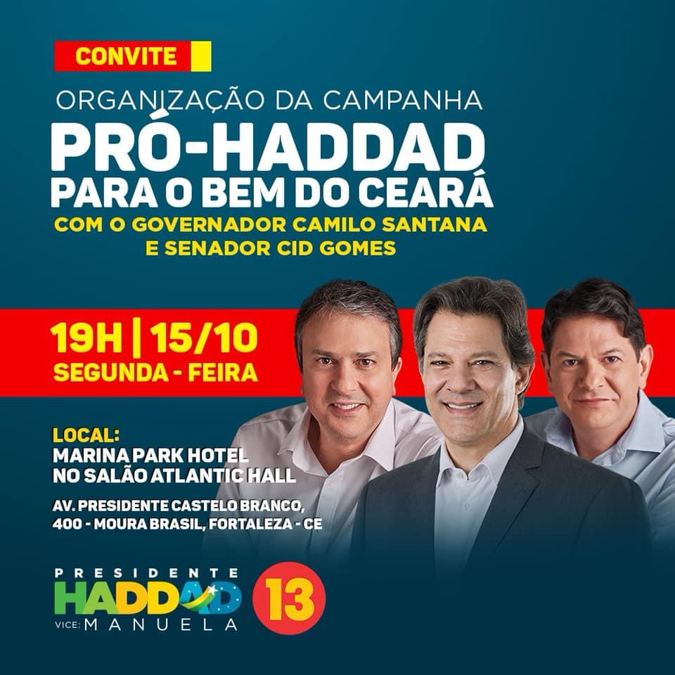 O presidenciável Fernando Haddad (PT) vai para o Segundo Turno das Eleições  Presidenciais, em 28 de outubro com Jair Bolsonaro (PSL), que tem como  cabos ... adc76a9fb0