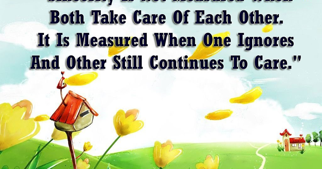 Take Care Of Each Other: Main Aur Meri Tanhai: Sincerty Is Not Measure When Both