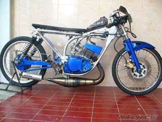 modifikasi motor rx king warna biru