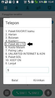 paket tri 4G LTE