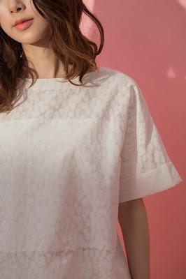 夢之河短袖上衣-水花
