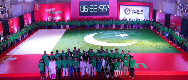 Peek Freans Sooper breaks GUINNESS WORLD RECORD™ by making world's largest cookie mosaic on Pakistan's 70th independence day