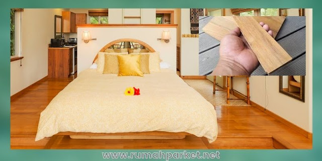 material lantai untuk kamar tidur - parket solid jati