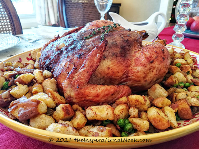 Roast chicken in oven, roast chicken whole, chicken roast anglo indian style, anglo indian roast chicken and stuffing