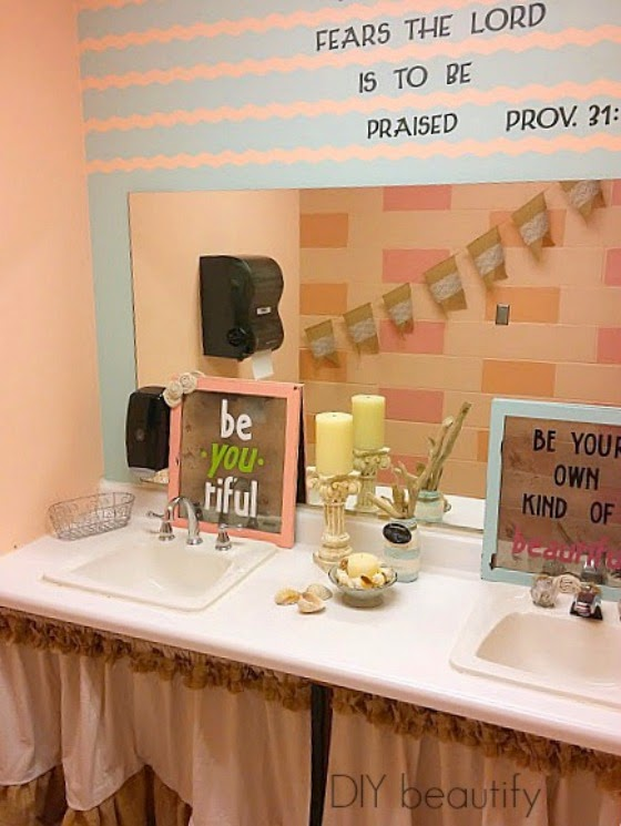 Church bathroom makeover www.diybeautify.com