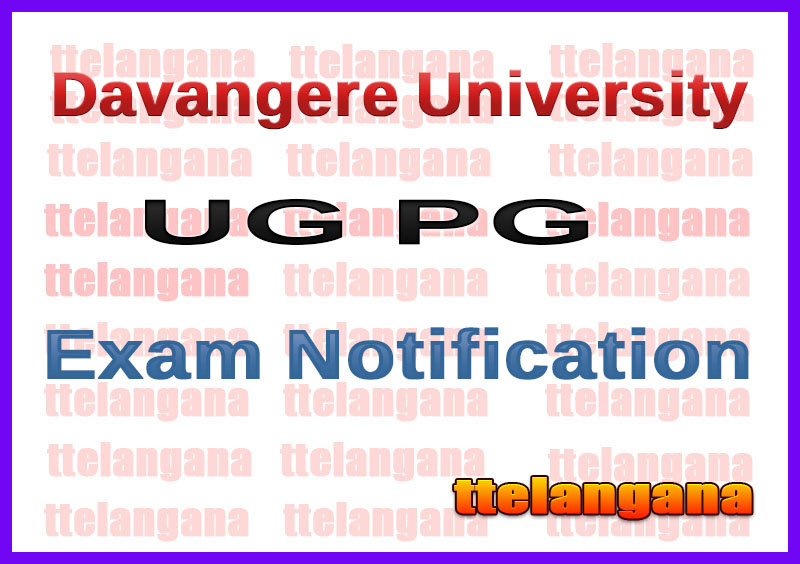Davangere University UG PG  Exam Notification