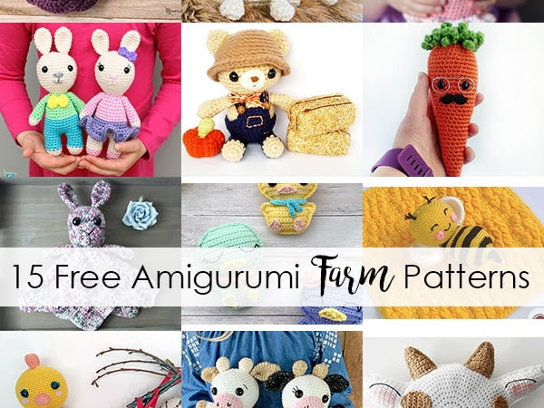 15 Free Amigurumi Farm Patterns