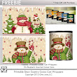 Printable Snowman Hot Cocoa Can Wrappers