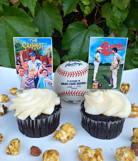 Baseball Movie Party Cupcakes - www.jacolynmurphy.com
