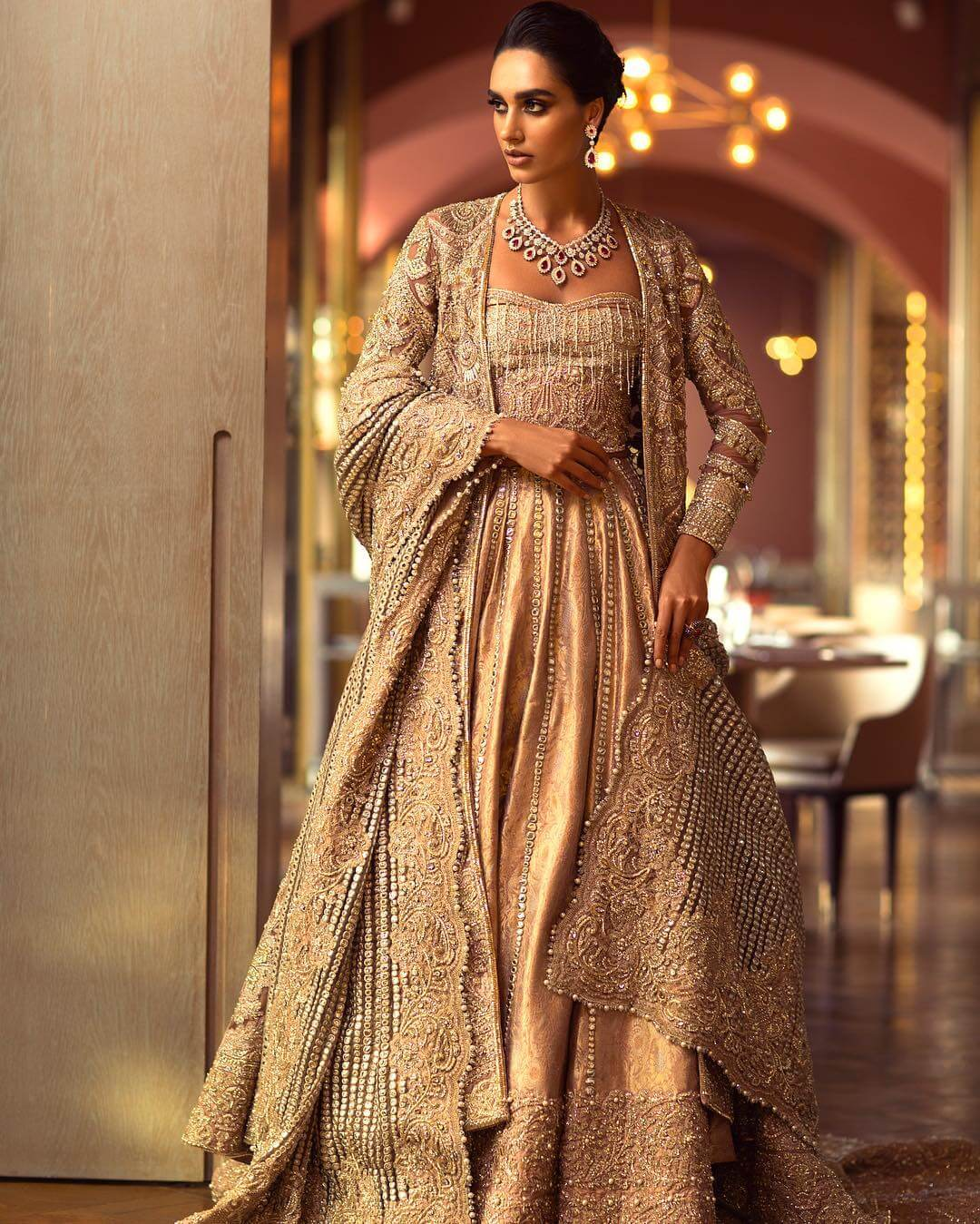 Jacket and skirt bridal wear HORIZON GLEAM from Faraz Manan LUMIERE S/S18 collection
