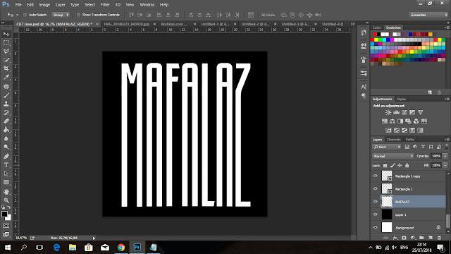 Cara Membuat Tulisan CRIS7ANO Ala Juventus Di Photoshop - 8