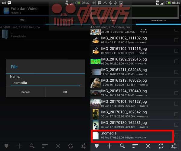 Cara menyembunyikan video di android