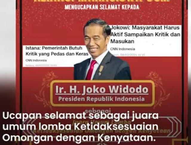 Jokowi Dapat Juara Ketidaksesuaian Omongan dengan Kenyataan, Kritikan dari Aliansi Mahasiswa UGM