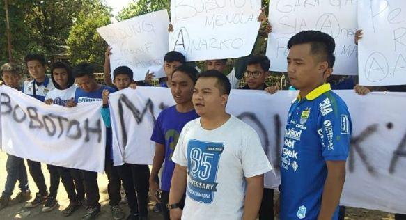 Tolak Kelompok Anarko di Bandung, Bobotoh Persib Gelar Unjuk Rasa